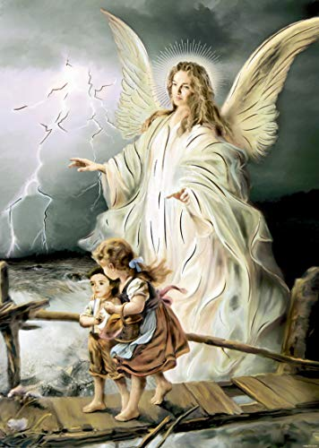 Guardian Angel - Religious Wall Art Print Poster (8X10)