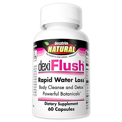 Dexatrim Natural dexiFlush- Rapid Water Loss Pills | Dietary Supplement & Detox w/Herbal Blend and High Vitamin B6 for Men & Women (60-Count Bottle)