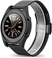 NO.1 S9 - Smartwatch mit Herzfrequenz Sensor (Stahl, Uhr, Bluetooth4.0, Armbanduhr, NFC, Bluetooth Telefon, Pulsmesser Aktivitätstracker Schrittzähler Schlafanalyse Kalorienzähler für ios Android)
