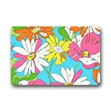 Lilly Pulitzer Prints Flower Pattern Personalized Custom Gaming Mouse Pad Rubber Durable Computer Desk Stationery Accessories Mouse Pads For Gift