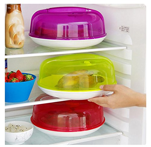 Microwave Plate Cover with Steam Vents Dish Cover Microwave Splatter Cover QS