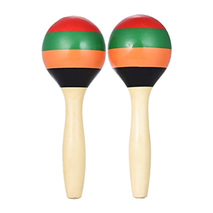 Original Pair Of Maracas Shakers Rattles Sand Hammer Percussion Instrument Musical Toy For Kid Children Ktv Party Game In Many Styles Home