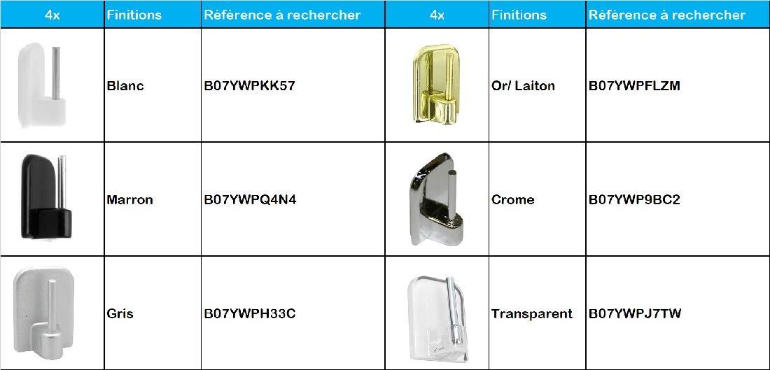 Plate//Ovale Lot de 2 30 x 50 cm Chrome ATELIERS 28 Tringles de vitrage Extensibles M/étal