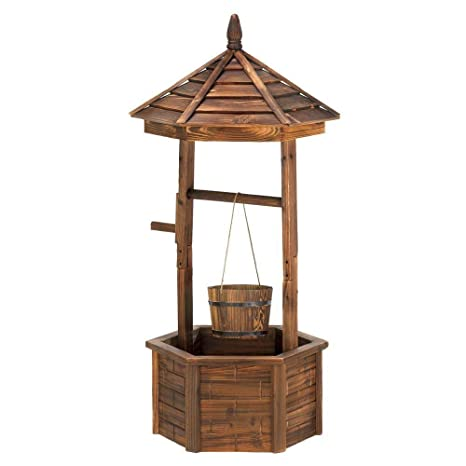Amazon Com Rustic Wishing Well Planter Rustic Wishing Well