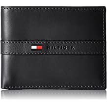 Tommy Hilfiger Men's Thin Sleek Casual Bifold with 6 Credit Card Pockets and Removable Id Window