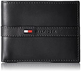 Tommy Hilfiger Men's Ranger Leather Passcase Wallet with Removable