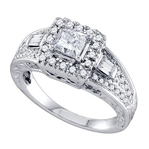 0.44 Ct Princess Diamond - 5