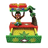 Rockin Gear Ashtray Rasta Figurine Ashtray - Jamaican Man Smoking Marijuana Joint cigarette Ashtray - Weed Hemp Pot Cannabis Party Accessory - Mosaic Multicolor Ashtray and Stash Drawer Combo