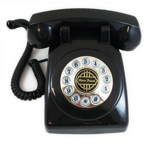 1950s Classic Black Home Desk Phone Replica (1950 Desk)
