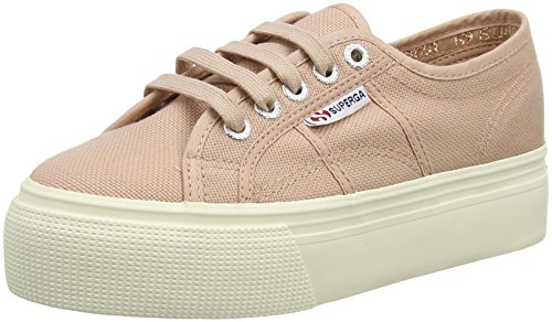 Down Femme Mahogany Pink and Superga Rose Acotw 2790 Linea Baskets Up wZ67Xq