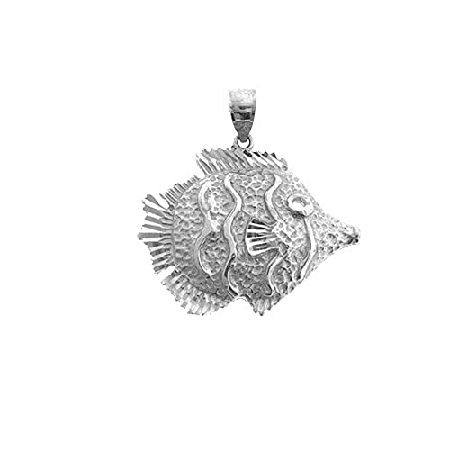 Jewels Obsession Tropical Angelfish Necklace 14K Yellow Gold-plated 925 Silver Tropical Angelfish Pendant with 18 Necklace