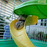 Hamster Cage Habitat, 3 Story Critter/Gerbil/ Small Animal Starter Kit with Attachments/Accessories- Water Bottle, Tunnel Ladders, Wheel by PETMAKER