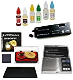 (US) Electronic Jewelry Scale Gram, Carat, Oz- Plus Complete Gold/Silver Purity Test Kit, Diamond Tester and More
