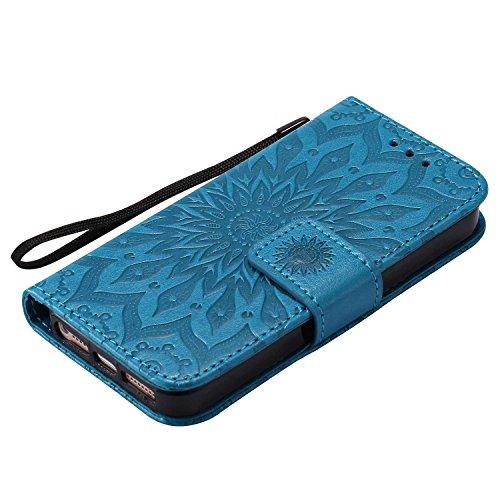 8547b76f78 CUSKING iPhone SE/iPhone 5 / iPhone 5s ケース 手帳ケース カード収納 スタンド機能