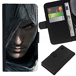 JackGot ( Asesinos Portraitr ) Sony Xperia Z1 L39 la tarjeta de Crédito Slots PU Funda de cuero Monedero caso cubierta de piel