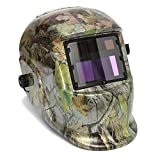 Youareking Adjustable Auto Darkening Solar Power Welding Helmet Forest Camo Arc Tig Mig Mask with 2pcs Extra Lens Covers (Autumn Leaf)