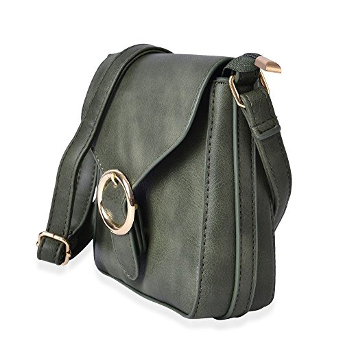 Small Shoulder Crossbody Strap Bag Adjustable Green Cm 18x18x5 Size r5rqwIZ