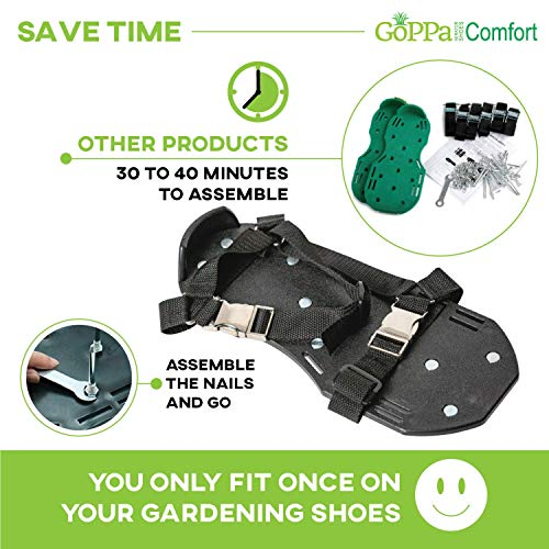 GoPPa Lawn Aerator Shoes – Easiest to USE Lawn Aerator Sandal, You only FIT Once. Ready for aerating Your Yard, Lawn, Roots & Grass – Comfort Design by GoPPa (Image #3)