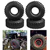 4 pics 1 od - 4Pcs Heavy Duty 120mm Rubber Tyres with Foam for RC 1/10 Axial SCX10 D90 Traxxas TRX-4 1.9