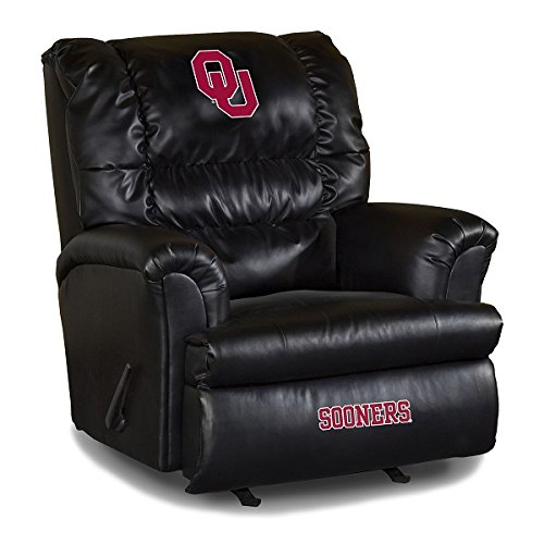 NCAA University Of Oklahoma Leather Big Daddy Recliner, One Size, Multicolor (Big Recliner Chair Team Daddy)