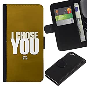 All Phone Most Case / Oferta Especial Cáscara Funda de cuero Monedero Cubierta de proteccion Caso / Wallet Case for Apple Iphone 6 // BIBLE I Chose You - John 15:16