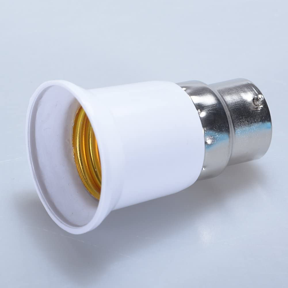 Alician B22 to E27 Light Lamp Bulb Socket Base Converter Edison Screw to Bayonet Cap