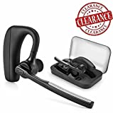 Bluetooth Headphones, CROANIA Wireless Earbuds Painless Light Weight Stereo Bluetooth Headset V4.1 Earphones with Mic and Carrying Case for iPhone Samsung iPad Android Phones One Pcs Earpiece (Black)