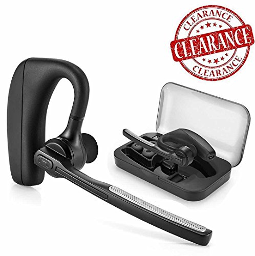Bluetooth Headphones, CROANIA Wireless Earbuds Painless Light Weight Stereo Bluetooth Headset V4.1 Earphones with Mic and Carrying Case for iPhone Samsung iPad Android Phones One Pcs Earpiece (Black) by CROANIA DIRECT