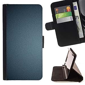 BullDog Case - FOR/Samsung Galaxy A3 / - / Texture Blue /- Monedero de cuero de la PU Llevar cubierta de la caja con el ID Credit Card Slots Flip funda de cuer
