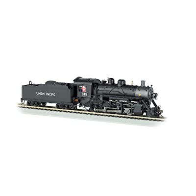 Bachmann Trains Baldwin 2-8-0 Dcc Equipped Steam Locomotive Union Pacific #619 - HO Scale, Prototypical Black: Toys & Games