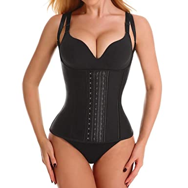 190d4fb688 Women s Waist Trainer Vest,Latex Sport Girdle Waist Training Corset Body  Cincher Shapewear for Hourglass