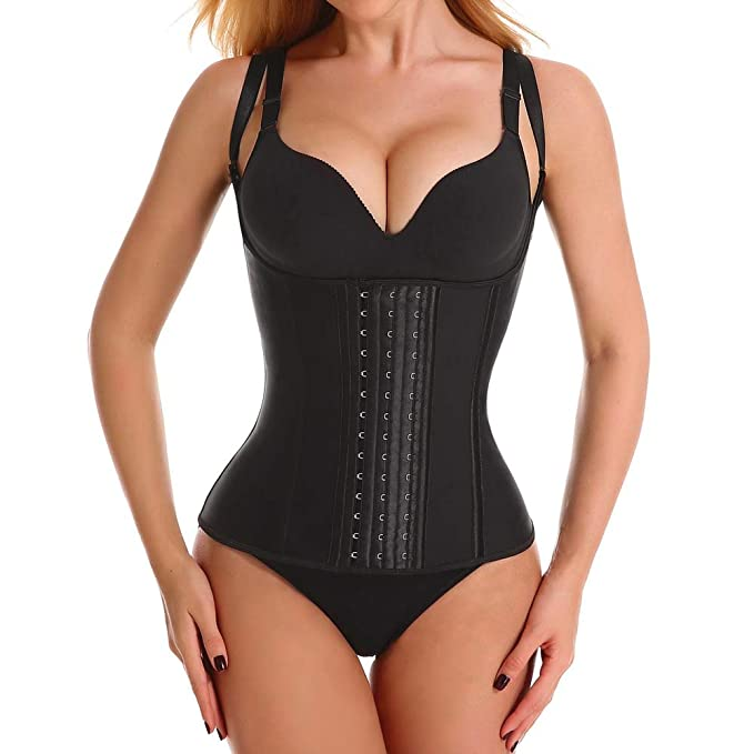 Waist Trainer for Women, Latex Waist Cinchers Sport Workout Vest Hourglass  Body Shaper with Adjustable Straps