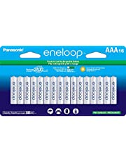 Panasonic BK-4MCCA16BA Eneloop AAA New 2100 Cycle Ni-MH Pre-Charged Rechargeable Batteries, 16 Pack