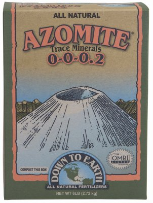 Down to Earth 07804 6 Lb All Natural Azomite Trace Minerals Powder 0-0-0.2