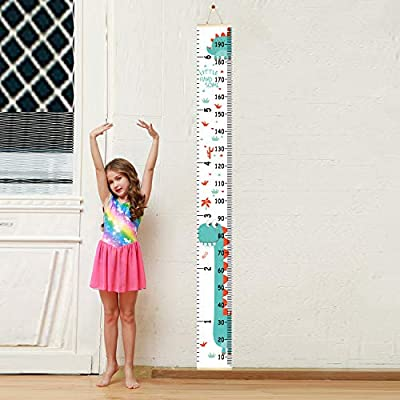 Sylfairy Growth Chart, Kids Wall Ruler Removable Height Measure Chart for Boys Girls Growth Ruler Unicorn Wall Room Decoration 79''7.9''