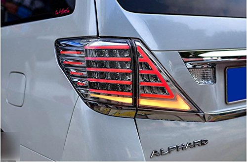 GOWE car styling for Toyota Alphard Taillight Vellfire LED taillight 2008-2014 With Flashing signal lamp Color white brown 3