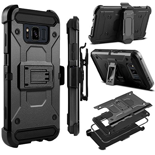 Galaxy S8 Active Case, Zenic Heavy Duty Shockproof Hybrid Full-body Protection Case Cover with Swivel Belt Clip and Kickstand for Samsung Galaxy S8 Active