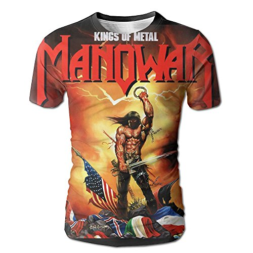 XINSHOU Manowar-Kings of Metal Men's 3D All Print Short Sleeve Tshirt M