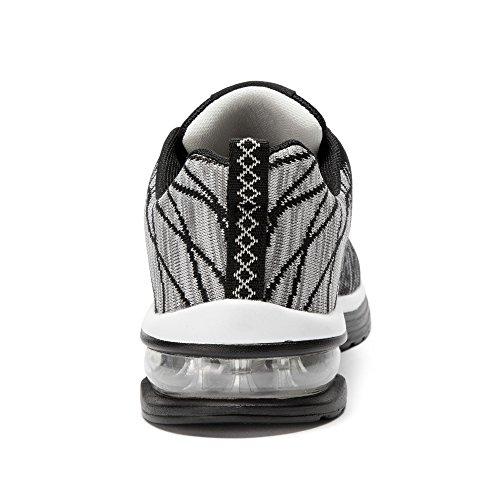 Casual da BRKVALIT Basket all'Aperto da Fitness Gym Sportive Corsa Scarpe Interior Unisex Scarpe da Ginnastica Basse Nero Sneakers Scarpe fwqEgTOw