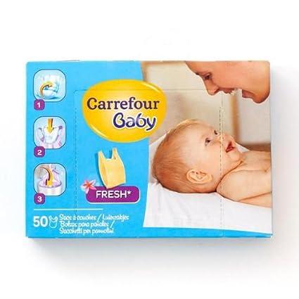 Carrefour bebé pañal Sacos Fresh 50 Pañales: Amazon.es: Bebé