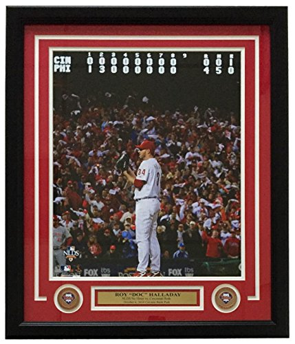 Roy Halladay Framed Philadelphia Phillies Nlcs No Hitter 16X20 Photo W  Medallions