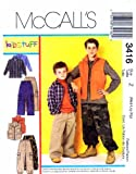 Mccall's Sewing Pattern 3416 Children's and Boy's Shirt, Vest, Pants, Sporting/Outdoors Size: Z - MED, LG & XLG