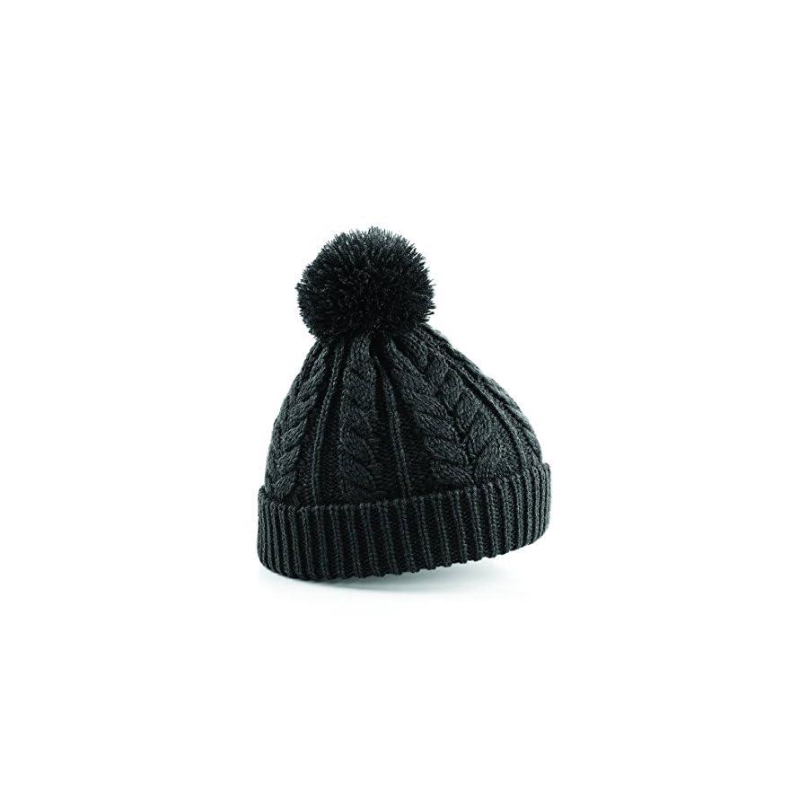 Beechfield Unisex Heavyweight Cable Knit Snowstar Winter Beanie Hat