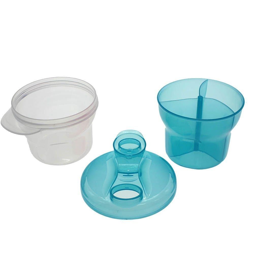 HuaYang New 3 Layers Rotating Baby Infant Food Milk Feeding Powder Dispenser Storage Box Blue HuaYangca