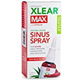 XLEAR Max Homeopathic Saline Nasal Spray with Capsicum, 1.5oz