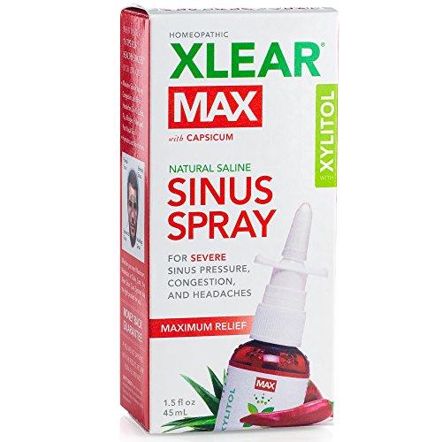 XLEAR MAX Homeopathic Saline Nasal Spray with Capsicum, 1.5 fl (Best Nasal Spray)