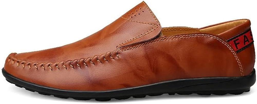 Derbys Homme Mocassins de Conduite pour Hommes Slip sur Mocassins Confortables Chaussures de Loisirs Black