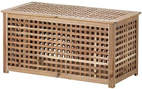 IKEA ASIA HOL Storage Table, Acacia, 38.6 x 19.7 x 19.7 Inch