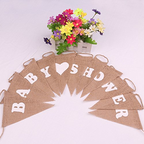 BABY SHOWER Rustic Vintage garland Banner Photo Props Party Decoration Accessory