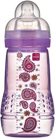 Mamadeira 270 ml Easy Active, MAM, Rosa